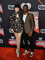 Noah Cyrus &amp; Labrinth at the 2017 iHeartRadio Music Awards at The Forum, Los Angeles, USA 05 March  2017<br /> Picture: Paul Smith/Featureflash/SilverHub 0208 004 5359 sales@silverhubmedia.com