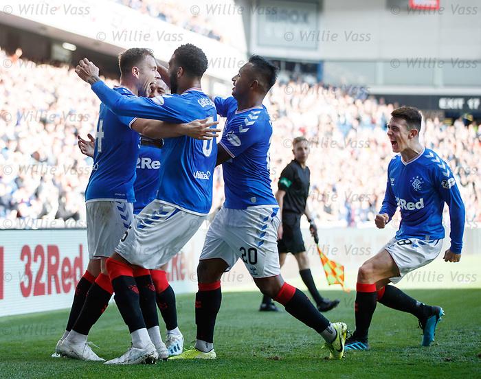 28.09.2018 Rangers v Aberdeen: Greg Stewart celebrates his goal
