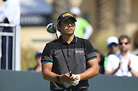 Gavin Green (MAL) on the 1st tee during the final round of  the Saudi International powered by Softbank Investment Advisers, Royal Greens G&CC, King Abdullah Economic City,  Saudi Arabia. 02/02/2020<br /> Picture: Golffile | Fran Caffrey<br /> <br /> <br /> All photo usage must carry mandatory copyright credit (© Golffile | Fran Caffrey)
