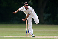 A Nijjar in bowling action for Wanstead during Wanstead and Snaresbrook CC vs Ilford CC, Shepherd Neame Essex League Cricket at Overton Drive on 17th June 2017