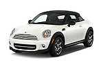 2015 MINI Mini Cooper 2 Door Coupe Angular Front stock photos of front three quarter view