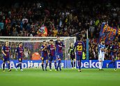 9th September 2017, Camp Nou, Barcelona, Spain; La Liga football, Barcelona versus Espanyol; Barça players celebrate their second goal