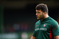 Ellis Genge of Leicester Tigers looks on during the pre-match warm-up. Aviva Premiership match, between Leicester Tigers and Gloucester Rugby on September 16, 2017 at Welford Road in Leicester, England. Photo by: Patrick Khachfe / JMP