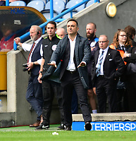 Sheffield Wednesday manager Carlos Carvalhal shouts instructions to his team from the dug-out<br /> <br /> Photographer Chris Vaughan/CameraSport<br /> <br /> The EFL Sky Bet Championship Play-Off Semi Final First Leg - Huddersfield Town v Sheffield Wednesday - Saturday 13th May 2017 - The John Smith's Stadium - Huddersfield<br /> <br /> World Copyright &copy; 2017 CameraSport. All rights reserved. 43 Linden Ave. Countesthorpe. Leicester. England. LE8 5PG - Tel: +44 (0) 116 277 4147 - admin@camerasport.com - www.camerasport.com