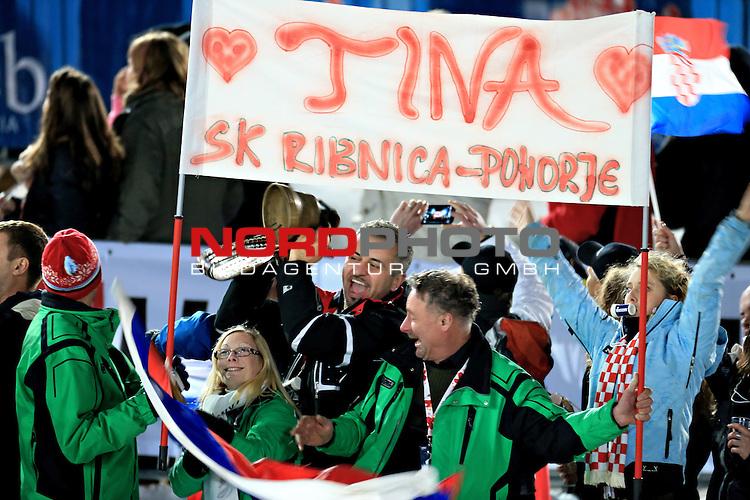 04.01.2013., Sljeme, Zagreb - Ladies Slalom race  &quot;Vip Snow Queen Trophy&quot; Zagreb-Sljeme 2013.<br /> <br /> Foto &copy;  nph / PIXSELL / Zeljko Lukunic