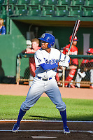 Deion Ulmer (3) of the Ogden Raptors at bat against the Orem Owlz in Pioneer League action at Lindquist Field on June 18, 2015 in Ogden, Utah.  This was Opening Night play of the 2015 Pioneer League season. (Stephen Smith/Four Seam Images)