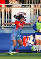Boyds, MD - Saturday May 14, 2016: Houston Dash defender Allysha Chapman (15) during a regular season National Women's Soccer League (NWSL) match at Maureen Hendricks Field, Maryland SoccerPlex. The Washington Spirit defeated the Houston Dash 1-0.
