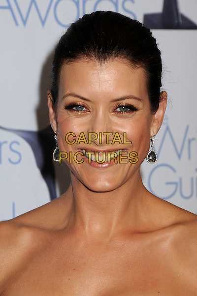 KATE WALSH .WGA 2009 Writers Guild Awards at the Hyatt Regency Century Plaza Hotel, Century City, CA, USA, .07 February 2009. .portrait headshot strapless black hair up earrings .CAP/ADM/BP.©Byron Purvis/Admedia/Capital PIctures