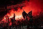 10.08.2019, wohninvest WESERSTADION, Bremen, GER, DFB-Pokal, 1. Runde, SV Atlas Delmenhorst vs SV Werder Bremen<br /> <br /> im Bild<br /> Pyrotechnik, Bengalos in der Ostkurve durch Werder Ultras, <br /> <br /> während DFB-Pokal Spiel zwischen SV Atlas Delmenhorst und SV Werder Bremen im wohninvest WESERSTADION, <br /> <br /> Foto © nordphoto / Ewert