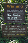 Ohe'o Gulch Flood Warning Sign
