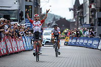 Victor(y)!!<br /> <br /> Victor Campenaerts (BEL/Lotto Soudal) wins the stage after a strong performance. <br /> <br /> Baloise Belgium Tour 2019<br /> Stage 4: Seraing – Seraing 151.1km<br /> ©kramon