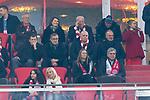 06.11.2019, Allianz Arena, Muenchen, GER, UEFA CL, FC Bayern Muenchen (GER) vs Olympiakos Piraeus (GRC), Gruppe E, UEFA regulations prohibit any use of photographs as image sequences and/or quasi-video, im Bild Uli Hoeness (Praesident FCB) und Karl-Heinz Rummenigge (Vorstandsvorsitzender FCB) <br /> <br /> Foto © nordphoto / Straubmeier