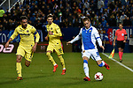 Leganes Ivi Lopez vs Villarreal during Copa del Rey match. 20180104.