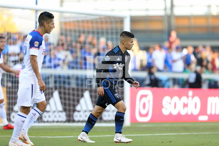 San Jose, CA - Saturday October 13, 2018: Eric Calvillo during a friendly match between the San Jose Earthquakes and Cruz Azul at Avaya Stadium.