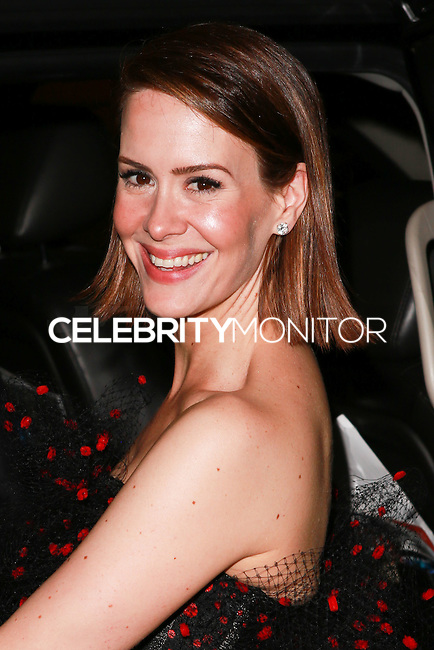 LOS ANGELES, CA, USA - AUGUST 25: Sarah Paulson at the FOX, 20th Century FOX Television, FX Networks And National Geographic Channel's 2014 Emmy Award Nominee Celebration held at Vibiana on August 25, 2014 in Los Angeles, California, United States. (Photo by David Acosta/Celebrity Monitor)