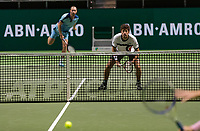 Rotterdam, The Netherlands, 15 Februari 2019, ABNAMRO World Tennis Tournament, Ahoy, quarter finals, doubles, Robin Haase (NED) / Matwe Middelkoop (NED),<br />