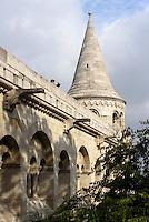 Fischerbastei, Helászbástya auf dem Burgberg, Budapest, Ungarn, UNESCO-Weltkulturerbe