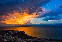 Sunset,  Dead Sea, Jordan.