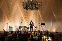 US President Barack Obama delivers remarks before offering a toast to Italian Prime Minister Matteo Renzi during a state dinner on the South Lawn of the White House in Washington DC, USA, 18 October 2016. President Obama hosts his final state dinner, featuring celebrity chef Mario Batali and singer Gwen Stefani performing after dinner. <br /> Credit: Michael Reynolds / Pool via CNP / MediaPunch