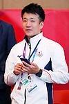 Yusuke Fukuda (JPN), <br /> AUGUST 20, 2018 - Fencing : <br /> Women's Individual Foil Medal Ceremony <br /> at Jakarta Convention Center Cendrawasih <br /> during the 2018 Jakarta Palembang Asian Games <br /> in Jakarta, Indonesia. <br /> (Photo by Naoki Morita/AFLO SPORT)