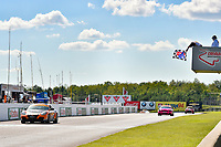 IMSA Continental Tire SportsCar Challenge<br /> Mobil 1 SportsCar Grand Prix<br /> Canadian Tire Motorsport Park<br /> Bowmanville, ON CAN<br /> Saturday 8 July 2017<br /> 56, Porsche, Porsche Cayman, ST, Jeff Mosing, Eric Foss, checkered flag, win, winner, finish line<br /> World Copyright: Scott R LePage/LAT Images