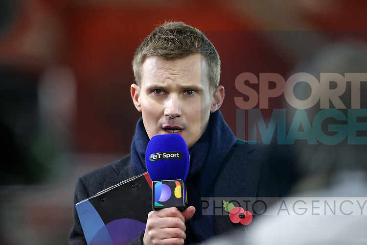 BT Sport presenter Darrell Currie in action during the Under 21 International Friendly match at the St Mary's Stadium, Southampton. Picture date November 10th, 2016 Pic David Klein/Sportimage