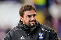 1st February 2020; St Andrews, Birmingham, Midlands, England; English Championship Football, Birmingham City versus Nottingham Forest; Pep Clotet Manager of Birmingham City smiles at the fans as he walks out