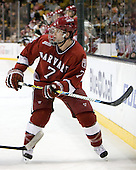 Chad Morin (Harvard - 7) - The Boston College Eagles defeated the Harvard University Crimson 6-0 on Monday, February 1, 2010, in the first round of the 2010 Beanpot at the TD Garden in Boston, Massachusetts.