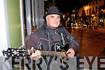Scotty the Busker entertaining the tourists at Market Square Monday night