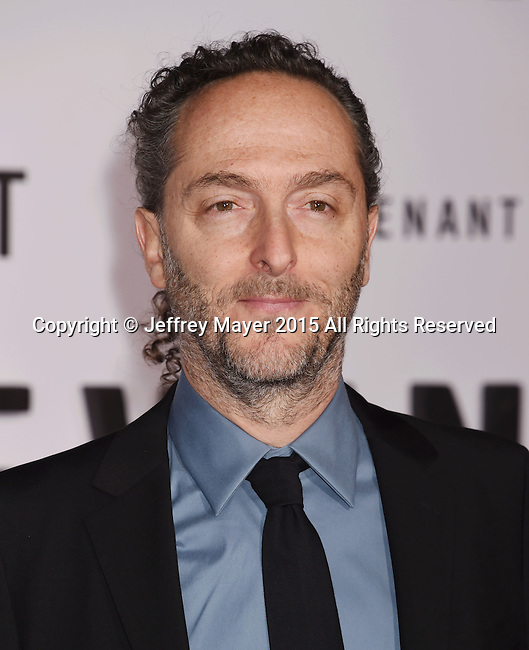 HOLLYWOOD, CA - DECEMBER 16: Cinematographer Emmanuel Lubezki arrives at the Premiere of 20th Century Fox And Regency Enterprises' 'The Revenant' at TCL Chinese Theatre on December 16, 2015 in Hollywood, California.