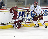 James Marcou (UMass - 19), Matt Price (BC - 25) - The Boston College Eagles defeated the University of Massachusetts-Amherst Minutemen 2-1 (OT) on Friday, February 26, 2010, at Conte Forum in Chestnut Hill, Massachusetts.