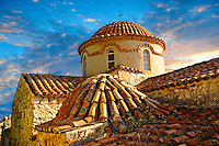 The exterior of the Byzantine Church of  Mystras ,  Sparta, the Peloponnese, Greece. A UNESCO World Heritage Site