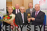 Pictured at the Lee Strand Social on Saturday night held In Ballygarry House Hotel and Spa were l-r: Ita Lynch Tralee and Brendan Walsh Chairman Teddy Lynch (who attended the first social 50 years ago, 1963) Micheal O'Muircheartaigh and John O'Sullivan.