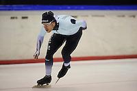SCHAATSEN: HEERENVEEN: IJsstadion Thialf, 05-02-15, Training World Cup, Haralds Silovs (LAT), ©foto Martin de Jong