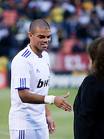 Pepe. Real Madrid defeated Club America 3-2 at Candlestick Park in San Francisco, California on August 4th, 2010.