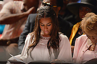 MIAMI, FL - MAY 05: Nicole 'Hoopz' Alexander attends boyfriend Shaquille O'Neal graduation Shaq receives doctoral degree in education from Barry University at James L Knight Center on May 5, 2012 in Miami, Florida.  (photo by: MPI10/MediaPunch Inc.)