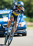 SITTARD, NETHERLANDS - AUGUST 16: Manuele Boaro of Italy riding for Saxo-Tinkoff competes during stage 5 of the Eneco Tour 2013, a 13km individual time trial from Sittard to Geleen, on August 16, 2013 in Sittard, Netherlands. (Photo by Dirk Markgraf/www.265-images.com)