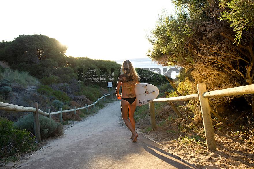 Kylie Meeks at Yallingup in Western Australia