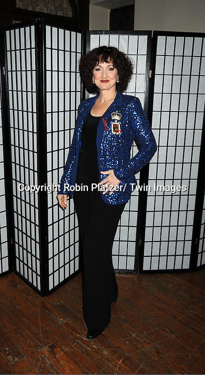 """Robin Strasser attends The """"Daytime Meets Nighttime"""" hosted by ..The Imperial Court of New York on November 4, 2011 at ..The Jan Hus Theatre in New York City. The benefit was for The Jan Hus Theatre and Lifebeat."""