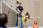 05.01.2019, Den Haag, Sportcampus Zuiderpark<br />Beachvolleyball, FIVB World Tour, 2019 DELA Beach Open<br /><br />Block Sandra Ittlinger (#2 GER)<br /><br />  Foto © nordphoto / Kurth