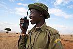 Rhino monitor, George Kamasiai, Lewa Conservancy, Laikipia, Kenya, September 2012
