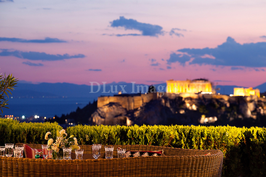 Terrace with acropolis view