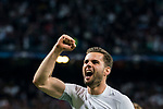 Nacho Fernandez of Real Madrid celebrates after the UEFA Champions League Semi-final 2nd leg match between Real Madrid and Bayern Munich at the Estadio Santiago Bernabeu on May 01 2018 in Madrid, Spain. Photo by Diego Souto / Power Sport Images