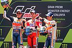Gran Premi Monster Energy de Catalunya 2017.<br /> Moto GP Race.<br /> Marc Marquez, Andrea Dovizioso &amp; Dani Pedrosa.