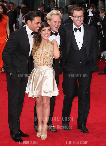 Andy Jordan, Louise Thompson, Jamie Lang and Oliver Proudlock arriving for the TV BAFTA Awards 2013, Royal Festival Hall, London. 12/05/2013 Picture by: Alexandra Glen / Featureflash