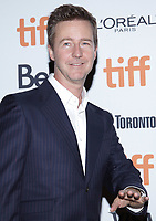 """TORONTO, ONTARIO - SEPTEMBER 10: Edward Norton attends the """"Motherless Brooklyn"""" premiere during the 2019 Toronto International Film Festival at Princess of Wales Theatre on September 10, 2019 in Toronto, Canada. Photo: PICJER/imageSPACE/MediaPunch"""