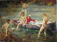 Tuke, Henry Scott (1858–1929), Ruby, gold and malachite, 1902