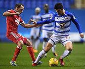 31st October 2017, Madejski Stadium, Reading, England; EFL Championship football, Reading versus Nottingham Forest; Pelle Clement of Reading evades David Vaughan of Nottingham Forest