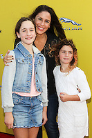 SANTA MONICA, CA, USA - NOVEMBER 16: Poet Goldberg, Soleil Moon Frye, Jagger Goldberg arrives at the P.S. ARTS Express Yourself 2014 held at The Barker Hanger on November 16, 2014 in Santa Monica, California, United States. (Photo by Celebrity Monitor)