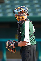 South Bend Silver Hawks catcher Zach Jones #23 during practice before a Midwest League game against the West Michigan Whitecaps at Coveleski Stadium on August 15, 2012 in South Bend, Indiana.  West Michigan defeated South bend 7-1.  (Mike Janes/Four Seam Images)